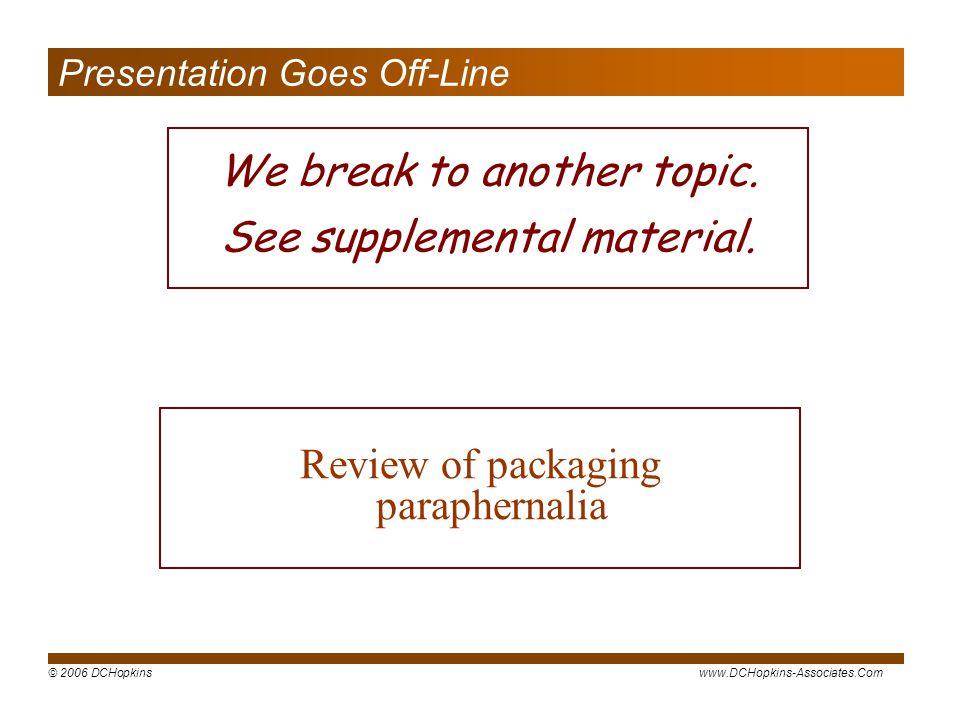 Presentation Goes Off-Line