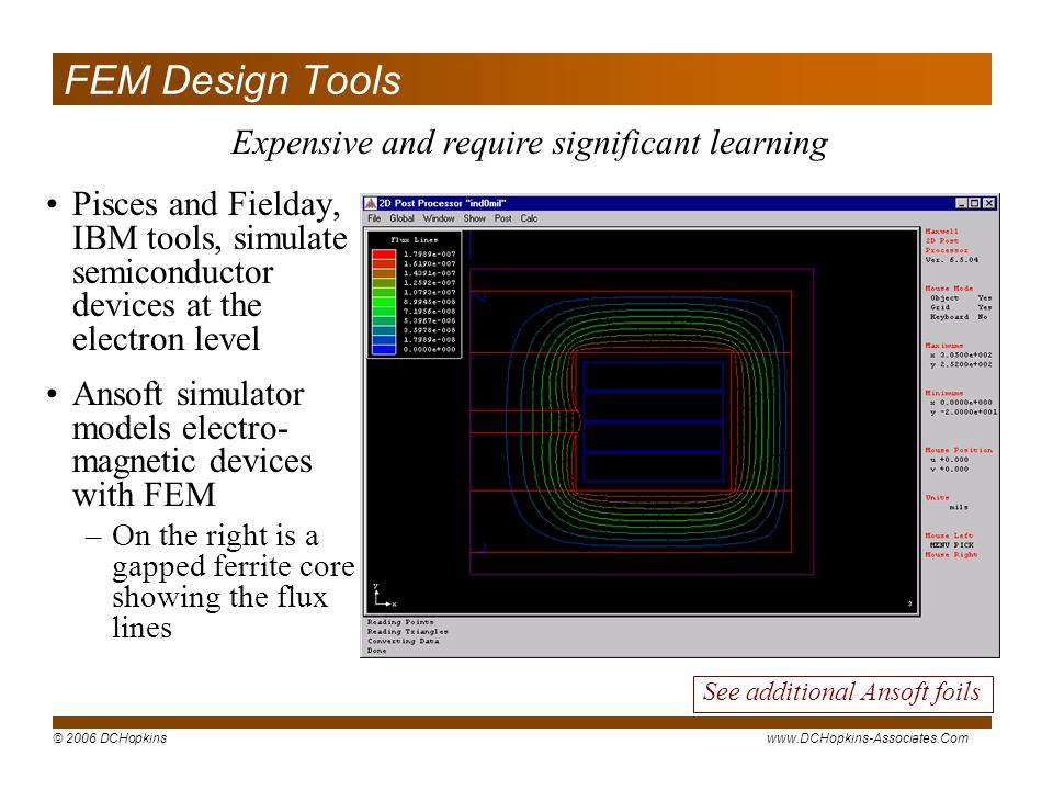 FEM Design Tools Expensive and require significant learning