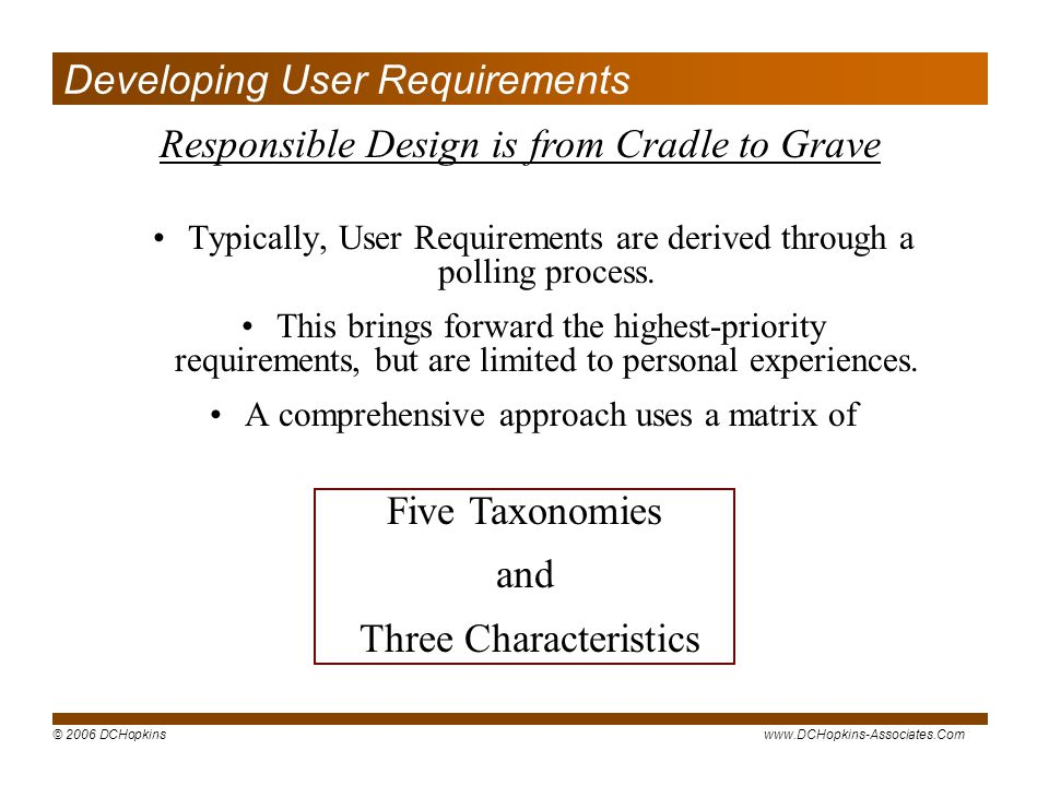 Developing User Requirements