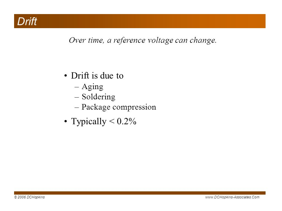 Over time, a reference voltage can change.