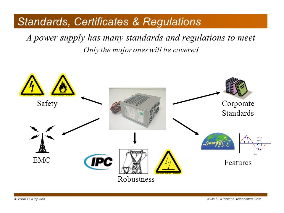 Standards, Certificates & Regulations