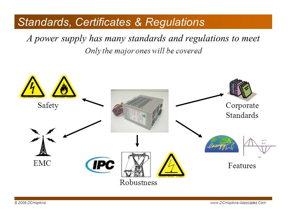 Standards, Certificates & Regulations