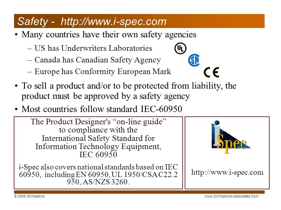 Safety - http://www.i-spec.com