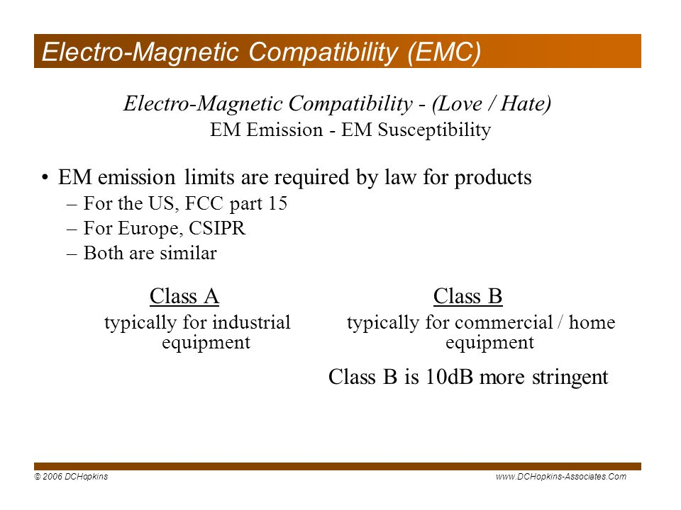 Electro-Magnetic Compatibility (EMC)