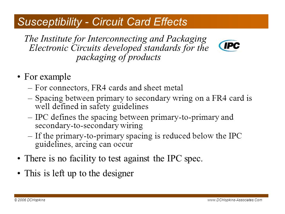 Susceptibility - Circuit Card Effects