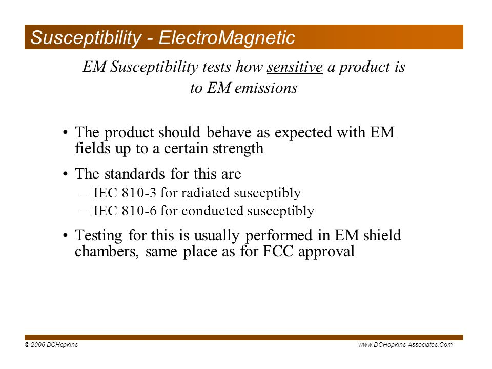 Susceptibility - ElectroMagnetic