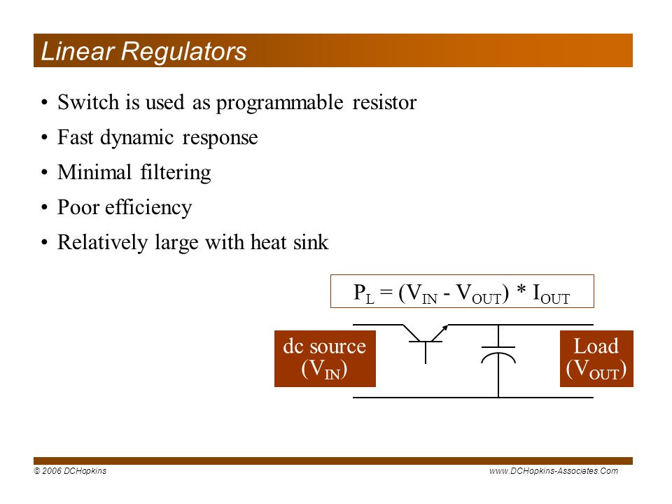 Linear Regulators Switch is used as programmable resistor