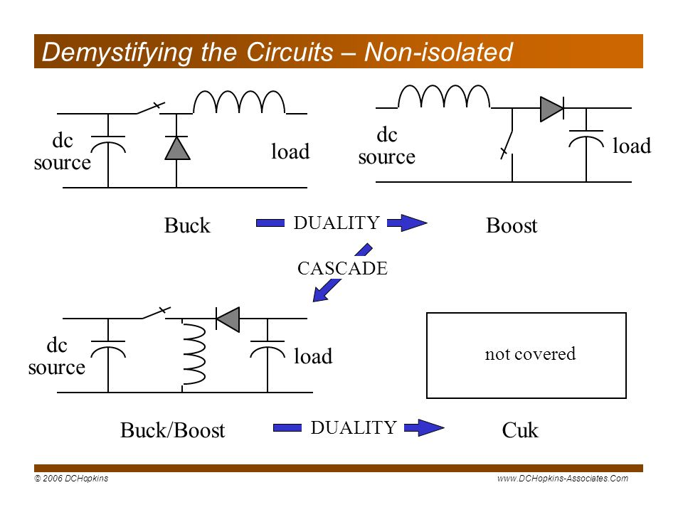 Demystifying the Circuits – Non-isolated