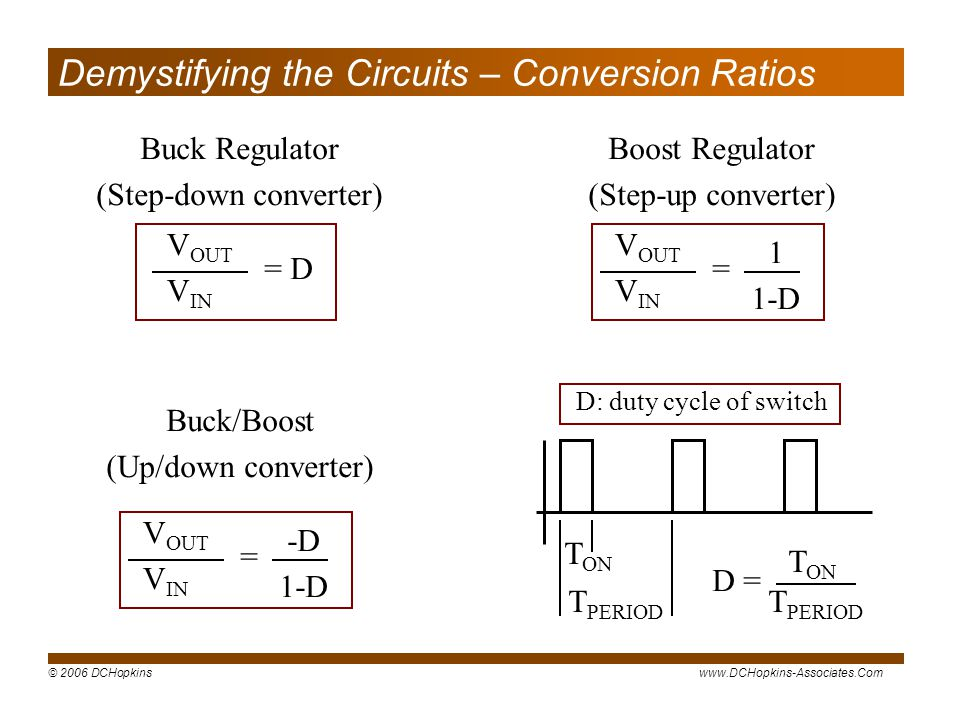 Demystifying the Circuits – Conversion Ratios
