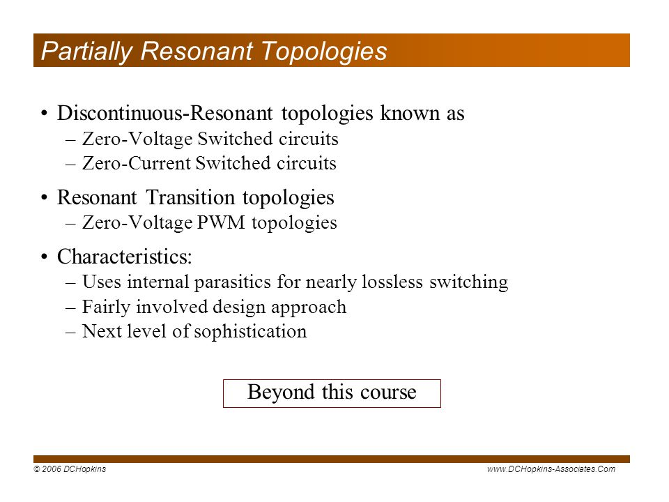 Partially Resonant Topologies