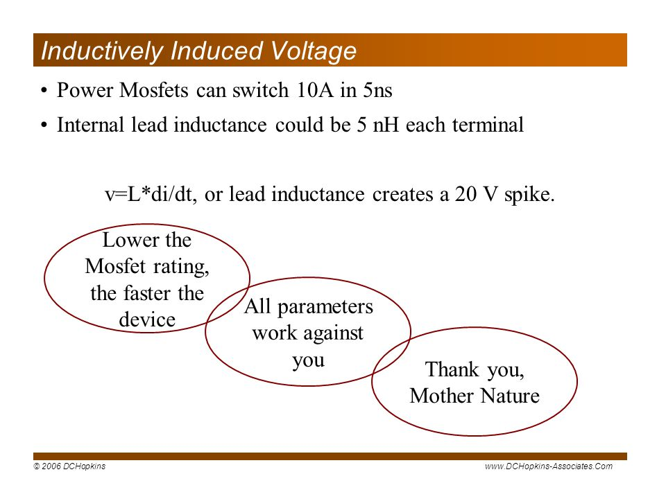 Inductively Induced Voltage