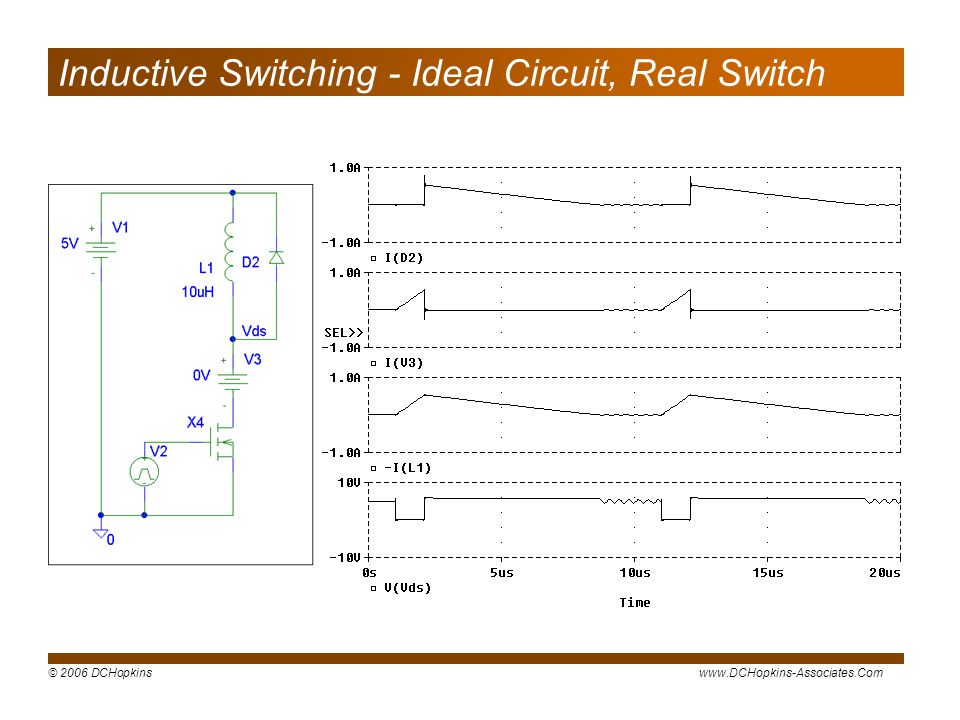 Inductive Switching - Ideal Circuit, Real Switch