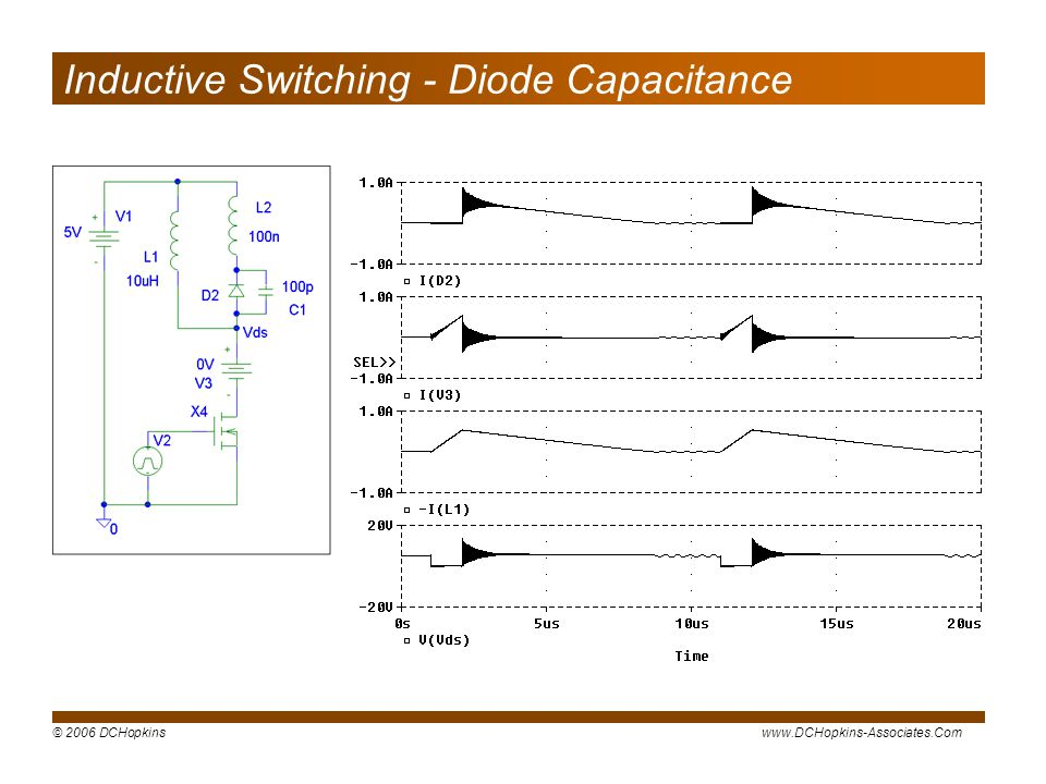 Inductive Switching - Diode Capacitance