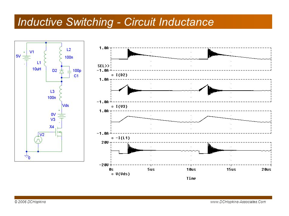 Inductive Switching - Circuit Inductance