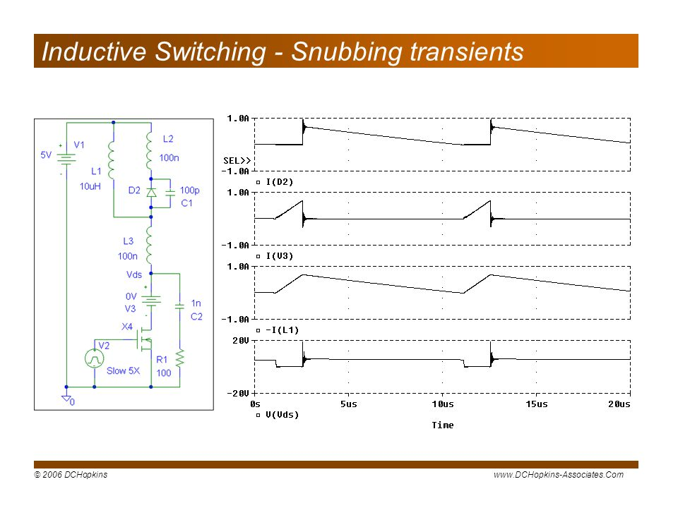 Inductive Switching - Snubbing transients