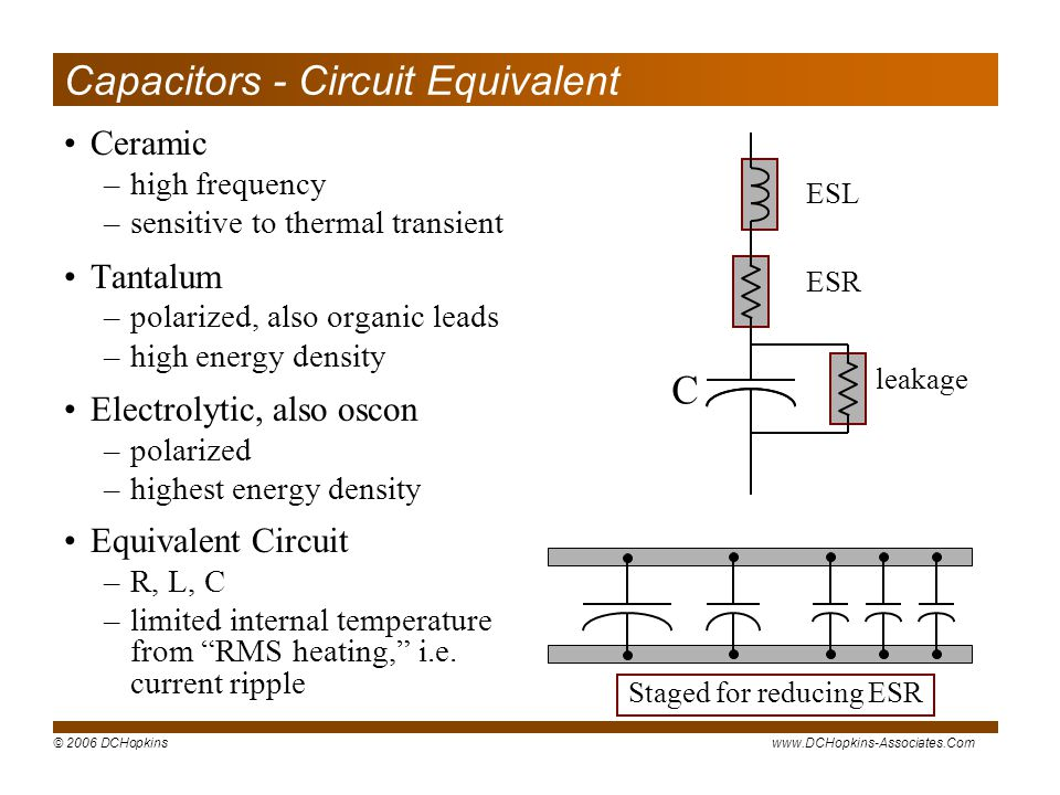 Capacitors - Circuit Equivalent