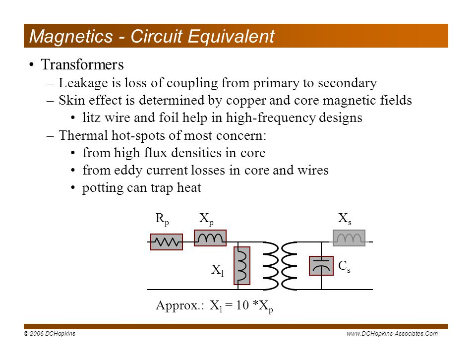 Magnetics - Circuit Equivalent