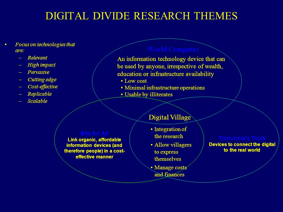 DIGITAL DIVIDE RESEARCH THEMES