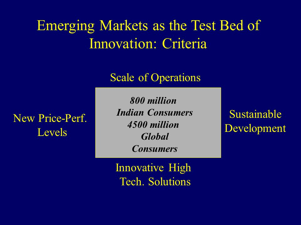 Emerging Markets as the Test Bed of Innovation: Criteria