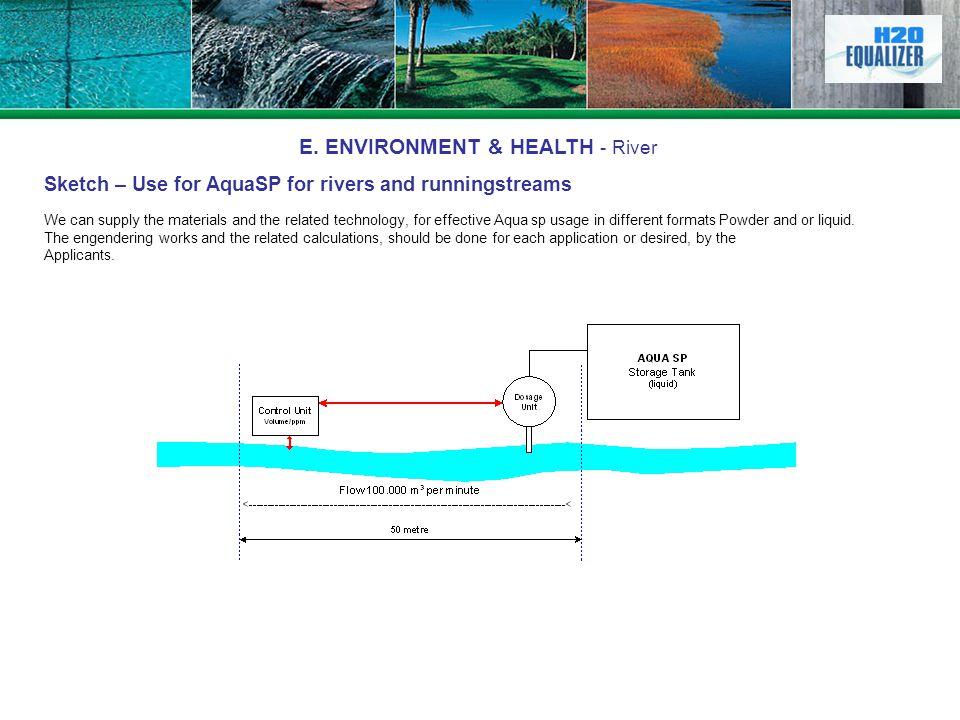 E. ENVIRONMENT & HEALTH - River