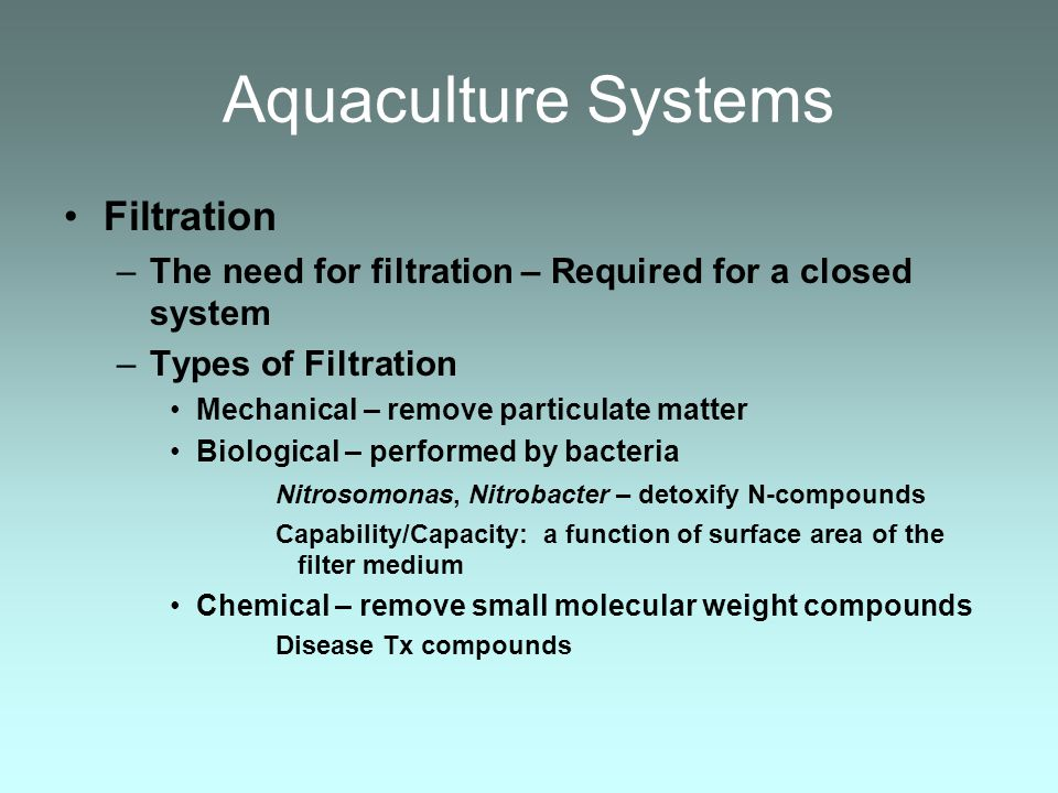 Aquaculture Systems Filtration