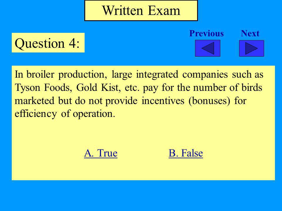Written Exam Question 4: