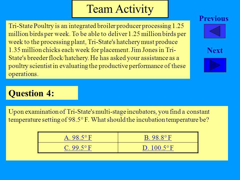 Team Activity Question 4: Previous Next