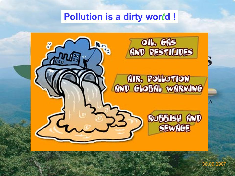 Pollution is a dirty world !