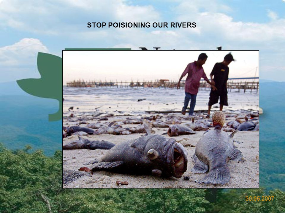 STOP POISIONING OUR RIVERS