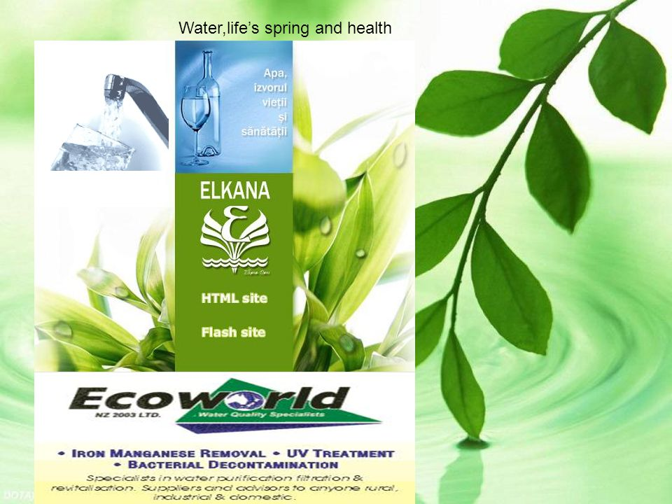 Water,life's spring and health