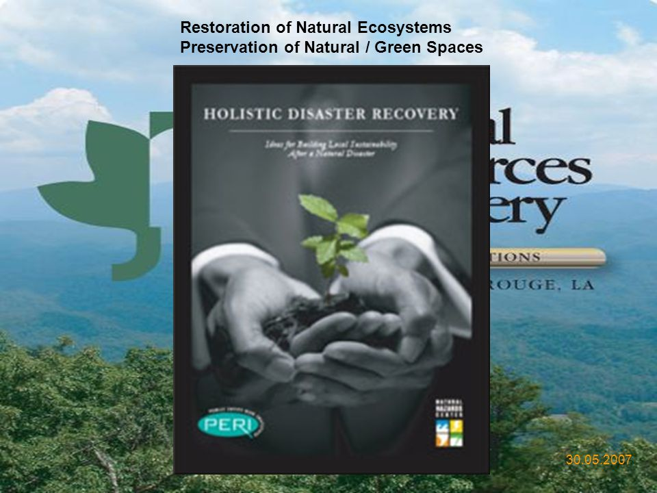 Restoration of Natural Ecosystems