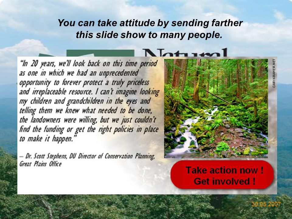 You can take attitude by sending farther