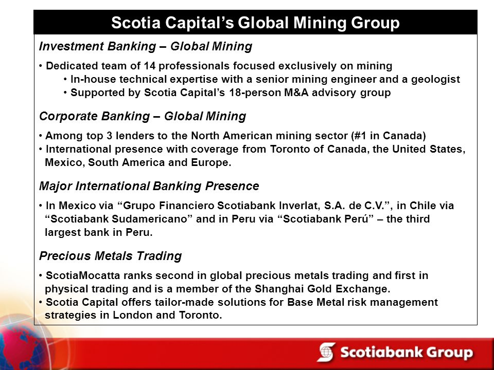 Scotia Capital's Global Mining Group