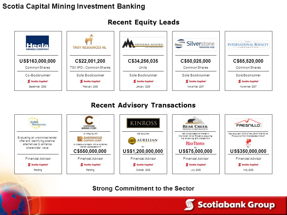 Scotia Capital Mining Investment Banking