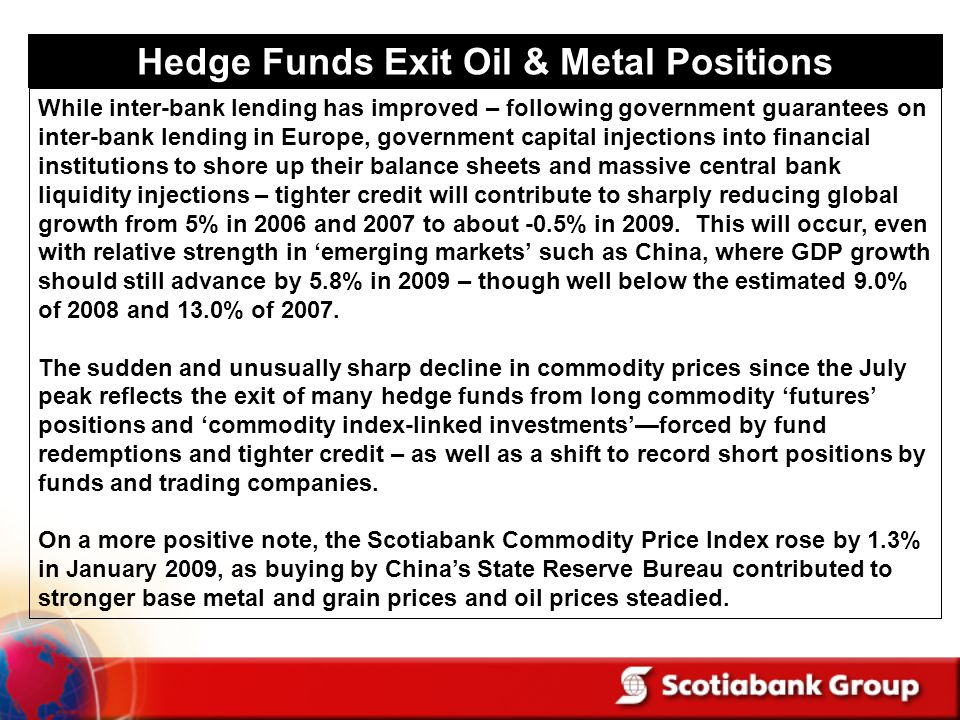 Hedge Funds Exit Oil & Metal Positions