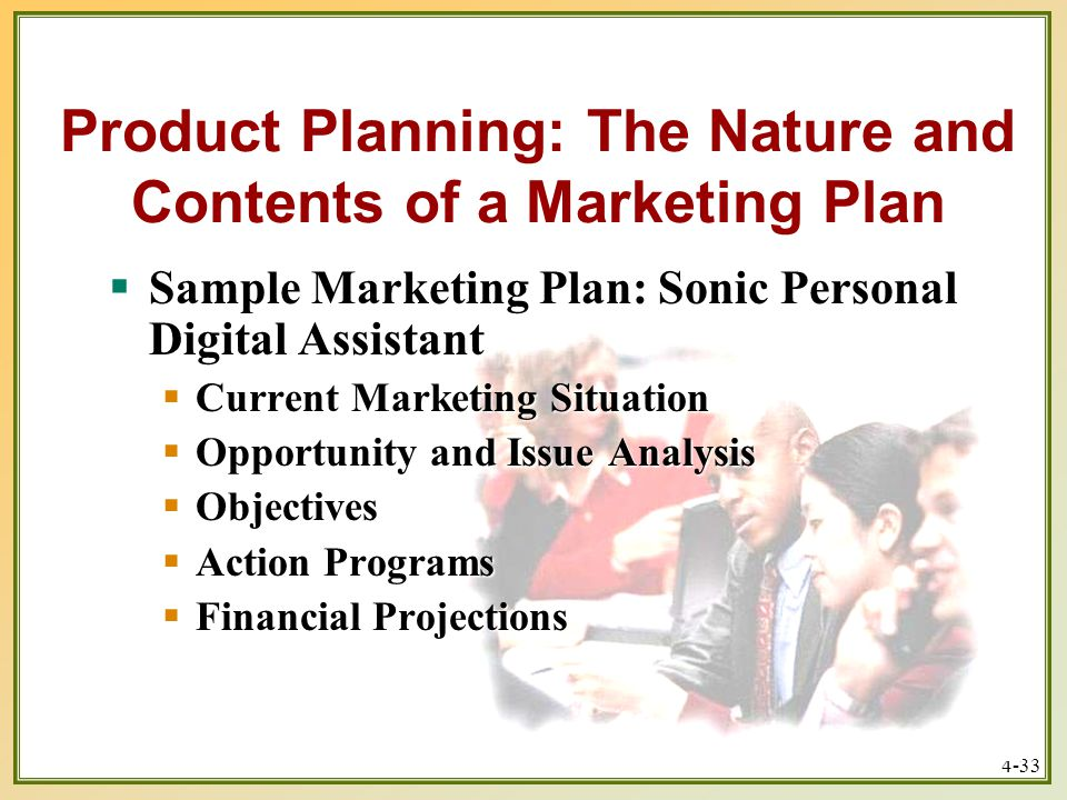 marketing plan for sonic This section takes you inside the sample marketing plan for sonic, a hypothetical start-up company the company's first product is the sonic 1000.