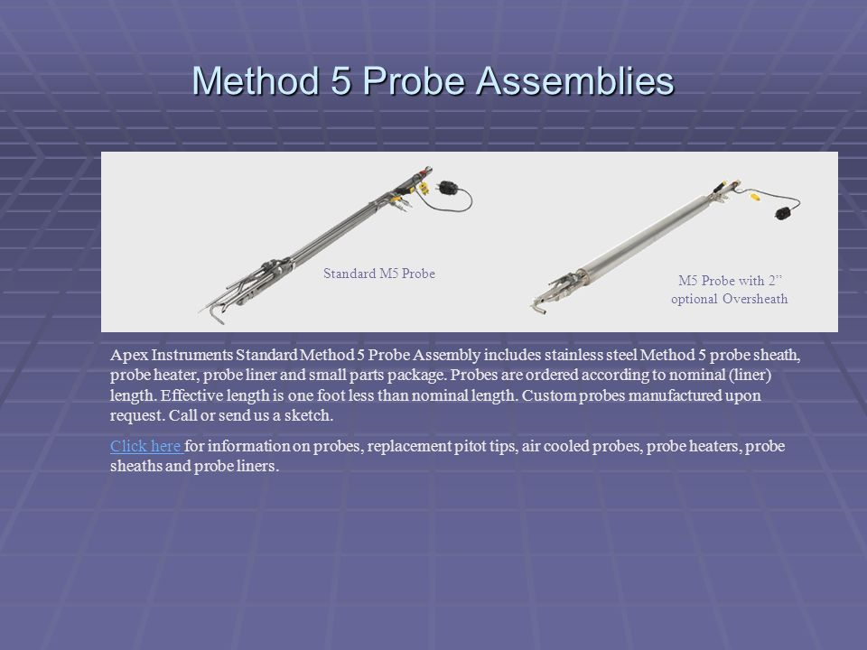 Method 5 Probe Assemblies