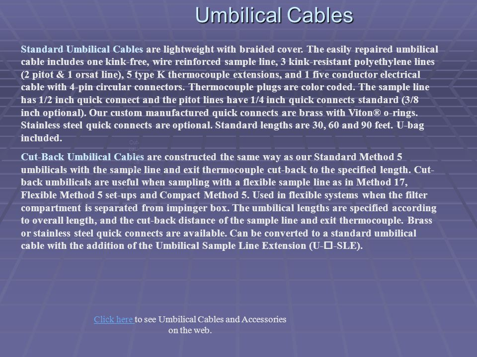 Umbilical Cables