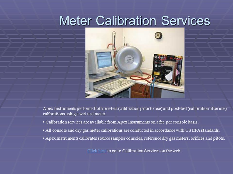 Meter Calibration Services