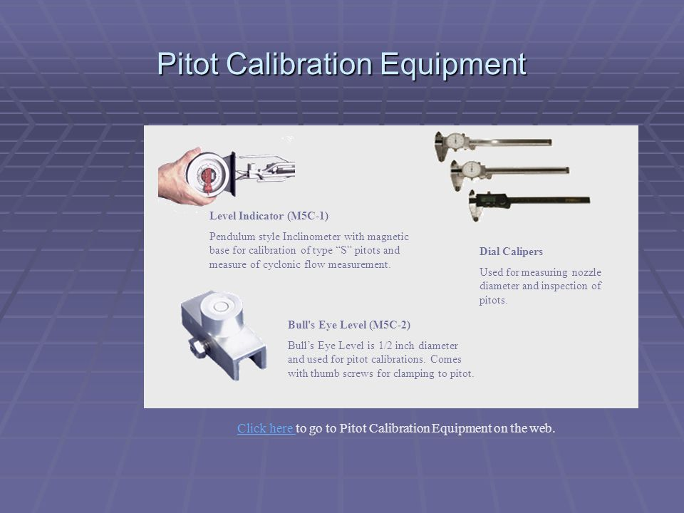 Pitot Calibration Equipment