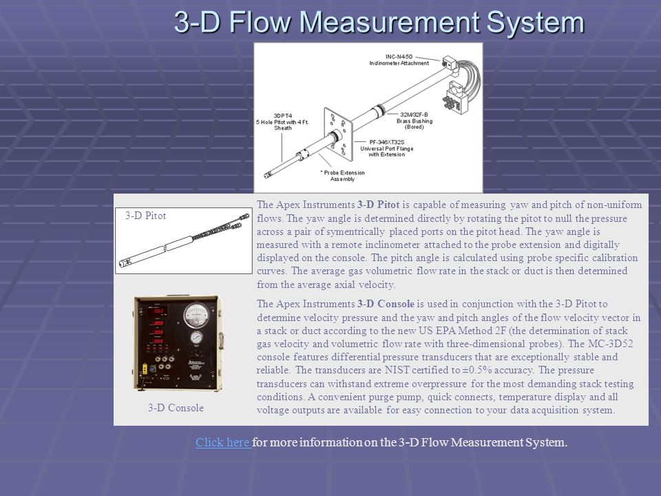 3-D Flow Measurement System