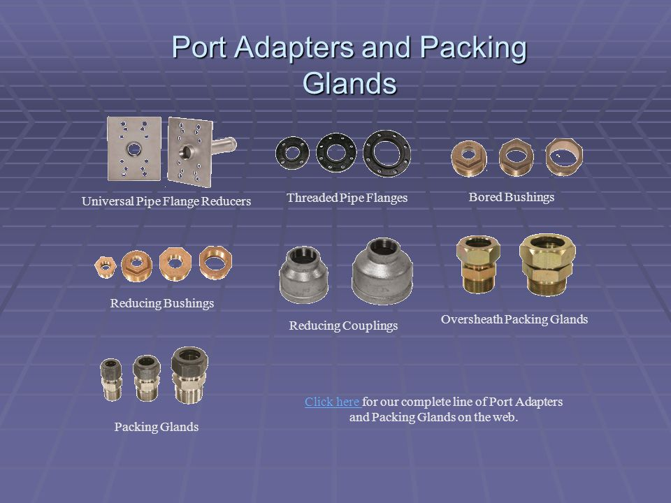 Port Adapters and Packing Glands