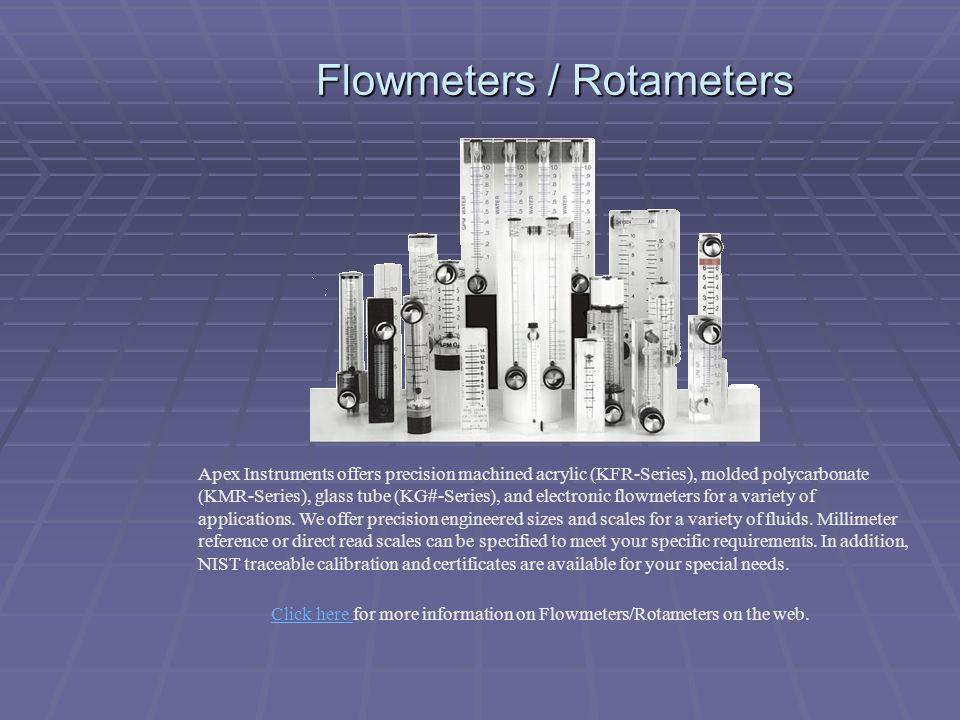Flowmeters / Rotameters