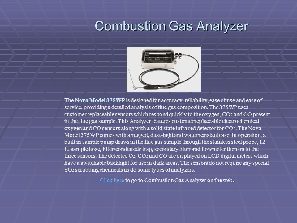 Combustion Gas Analyzer