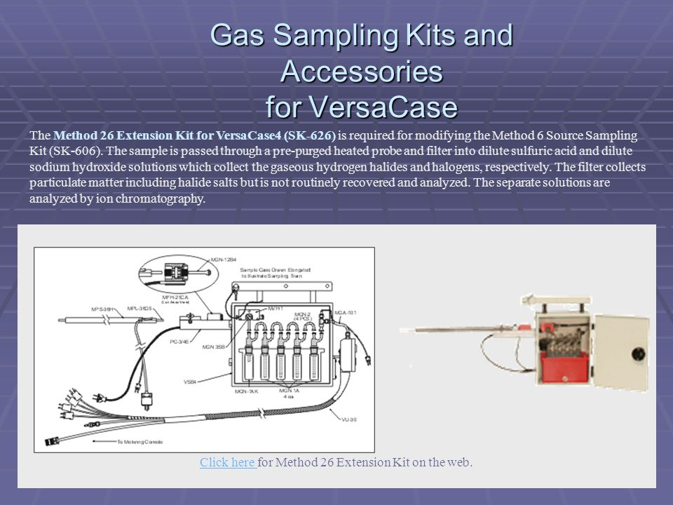 Gas Sampling Kits and Accessories for VersaCase