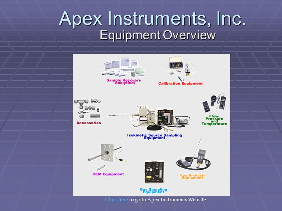 Click here to go to Apex Instruments Website.