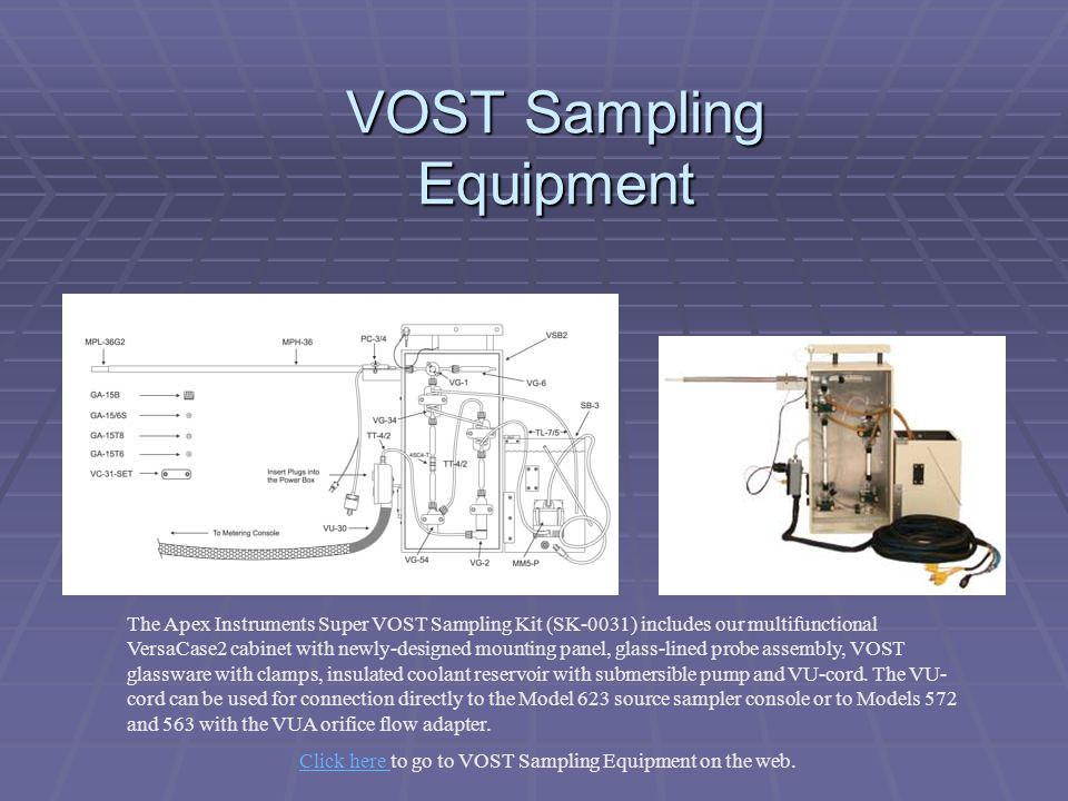 VOST Sampling Equipment