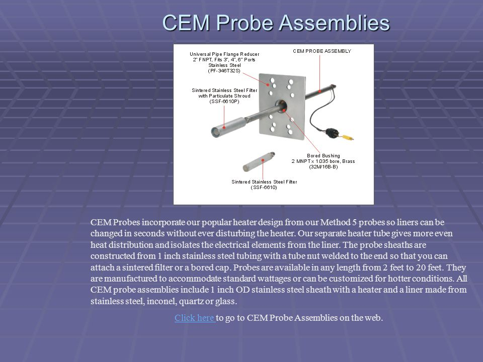 Click here to go to CEM Probe Assemblies on the web.