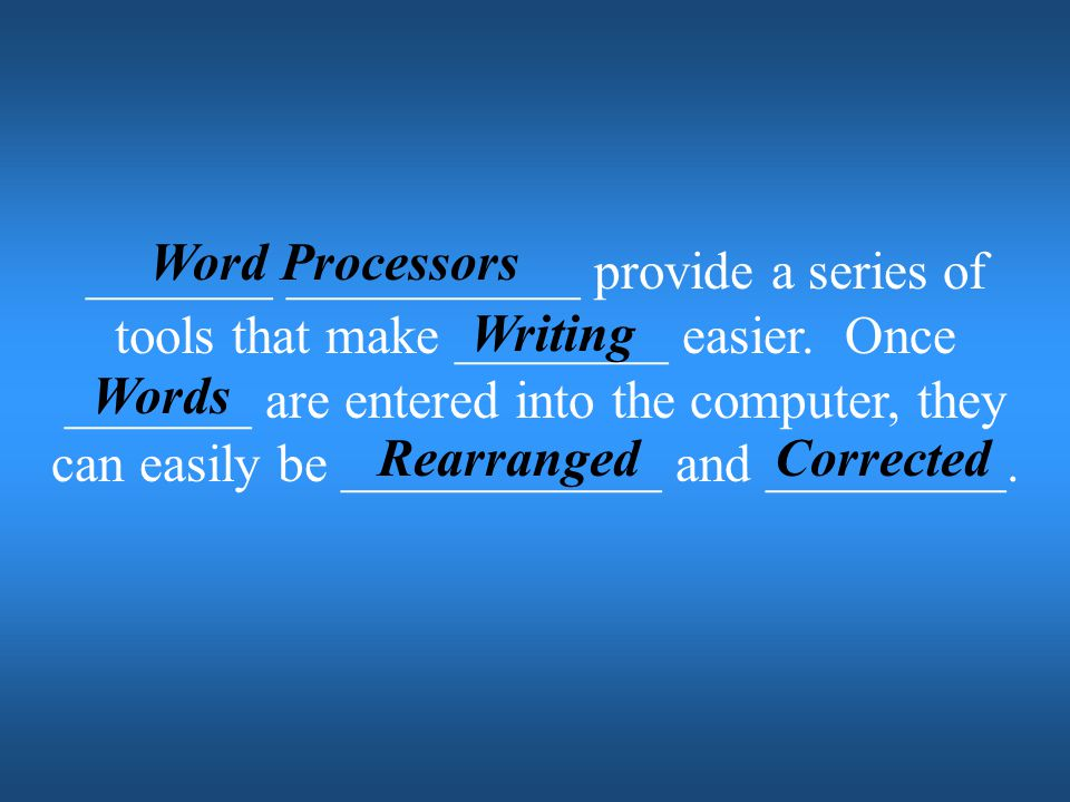 Word Processors