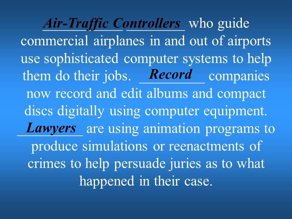 Air-Traffic Controllers